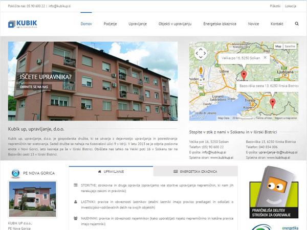 Nova spletna stran podjetja Kubikup d.o.o.