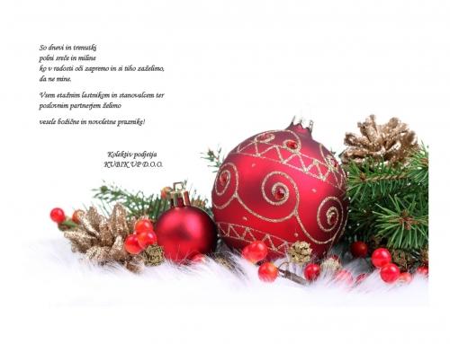 Vesele božične in novoletne praznike!